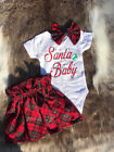 Newborn Kids Baby Girls Christmas Clothes MY 1st CHRISTMAS Romper Tutu Outfit US