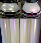 Fashion Glossy Pearl White Chameleon Vinyl Auto Wrap Film Sticker Bubble Free