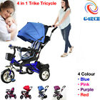 'Child Bike Kids Baby Ride On Tricycle 3 Wheels 4 In 1 Smart Trike Parent Handle