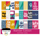 """Project Life Taster Sample Pack - 4""""x6"""" & 3""""x4"""" Cards Journaling x50 - CHOICE"""