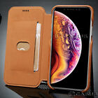 For Apple iPhone XSXS MAX XR Luxury Leather Wallet Stand Thin Slim Case Cover