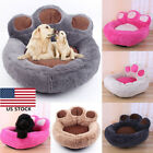 Bears Paw Puppy Cat Bed Soft Plush Dog Beds Nest Basket Shape Kennel Pet Bed US