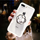 HOT 3D Luxury Flower Pearl Airbag Bracket Imitation Glass Case For Various Phone