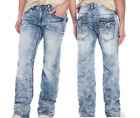 AFFLICTION Mens Denim Jeans COOPER STANDARD V PORTLAND Embroidered BKE $135 NWT