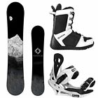 NEW 2019 System MTN and Summit Bindings + Boots Men's Complete Snowboard Package