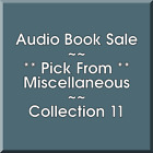 Audio Book Sale: Miscellaneous (11) - Pick what you want to save