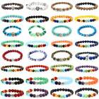 Fashion Jewelry Natural Stone 8mm Beads Lots Styles Charms Bracelets Wholesale
