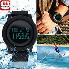 Fashion Men LED Digital Date Military Sport Rubber Quartz Watch Alarm Waterproof image