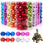 24X 3CM Small Christmas Tree Baubles Decor Ball Xmas Hanging Home Decoration