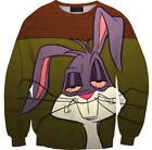 New Funny 3D Sweatshirt Bugs Bunny Looney Tunes Women Men Cartoon Fashion Weed