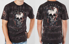 AFFLICTION Mens T-Shirt VENOM KILLS Skull Snake BLK TIE DYE Tattoo Biker UFC $58