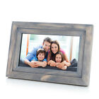 "iDeaPLAY 7"" HD 8GB WiFi Digital Photo Frame Wooden Album support iOS Android App"