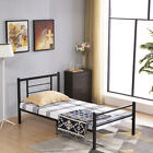 Mcombo Metal Bed Frame with Headboard and Footboard ,Twin Full Queen,Black