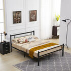 Mcombo Metal Bed Fream Metal Platform Bed Twin Full Queen size Panel Bed