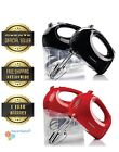 Ovente Hand Mixer Ultra Power 5-Speed 2 Chrome Beaters Free Snap-On Case HM151