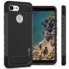 For Google Pixel 3 Case Hard Armor Shockproof Phone Cover with Carbon Fiber Look