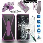 Tempered Glass Screen Protector +silicone bumper Case for Asus PadFone / ZenFone