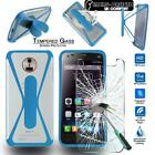 Tempered Glass Screen Protector + silicone bumper Stand Case for Elephone Phones