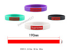 Внешний вид - 2pcs Trendy brand supreme silicone movement wristband