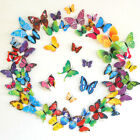 12pcs 3d Butterfly Fridge Refrigerator Magnet Wall Stickers Party Bedroom Decor