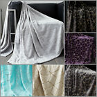 Luxury Metalic Faux Fur Mink Throw Blanket Soft Warm Thick Bed Sofa Double King