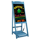 Sidewalk Menu Chalkboard Sign Board Message Easel & Shelf for Restaurant Wedding