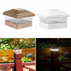 4 8 18 Outdoor Garden Solar LED Post Deck Cap Square Fence Light Landscape Lamp