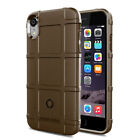 For iPhone X XS XR XS Max Rugged Shockproof Shield Soft Rubber Armor Case Cover