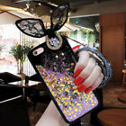 Lace Rabbit Ears Lanyard Glitter Stars Dynamic Quicksand For Various Phone Case