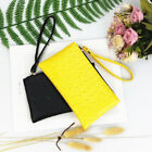 Pu Leather Women Solid Wallet Bag With Zip Card Holder Pouch Wristlet Purse S