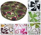 "2""Thick-Round Box Shape Cover*4 Leaf Cotton Canvas Chair Seat Cushion Case*AF5"