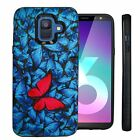For Samsung Galaxy A6 (2018), Slim Dual Layer Hybrid Embossed Case