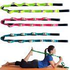Adjustable Yoga Stretch Strap 10-Loop Belt Fitness Resistance Exercise Band FEM