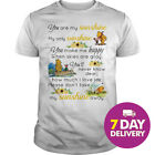 Pooh And Piglet You Are My Sunshine My Only Sunshine Shirt Black Full Size