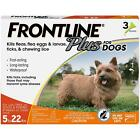 Frontline Plus Dogs Flea Tick Treatment for Small Dogs & Puppies (up to 22 lbs)