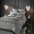 Kylie Minogue Elize Pewter Single Duvet Cover Bedding