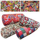 Bolster Cover*A-Grade Cotton Canvas Neck Roll Tube Yoga Massage Pillow Case*Lf2