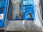 Mens GREY Thermal Crew top Fruit of the Loom, Med or Large  cotton/poly