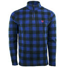 Chaps Men's Fleece Flannel 1/4 Zip Jacket