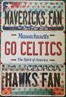 "NBA Basketball Team ""Fan"" State Background Metal License Plate ""Made In The USA"" on eBay"