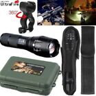 Ultrafire Flashlight 50000LM T6LED Light Zoom Tactical 18650&Torch Holder Set US