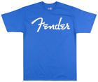 FENDER ELECTRIC GUITARS LOGO T-SHIRT MUSIC INSTRUMENTS AMP TEE BLUE BIG MENS image