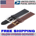 US Unisex Genuine Leather Wrist Watch Band Strap Replacement 12/14/16/18/20/22mm image