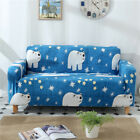 Spandex Stretch Sofa Covers Couch Protector for 1 2 3 4 seater LRau Polar Bear