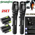 60000Lumens Tactical 5-ModesT6 LED Zoomable Focus 18650 Flashlight Torch Light