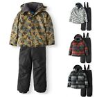 Iceburg Boy's Insulated Hood Jacket & Snow Ski Bib 2-Piece Set S-8 To XL-18