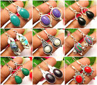 Pretty Earrings Abalone Shell, Coral & Other Gemstone 925 Silver Overlay Jewelry for sale  Shipping to Canada