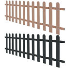 WPC Picket Fence Panels Portable Display Barrier Temporary Brown/Grey 4 Sizes