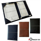 Yardage Book Holder Golf Scorecard Sunfish Leather PLUS Free Score Sheets Gifts