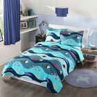 2pcs Kids Quilt Bedspread Comforter Set Throw Blanket for Boys Girls 276Fish  image